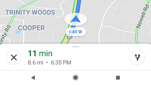 Another google app with round ui elements by corbin davenport google maps testing slightly rounded navigation ui ccuart Images