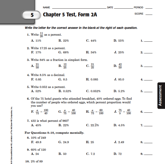 46 FREE CHAPTER 6 TEST FORM 2A ANSWER KEY PDF DOWNLOAD ...