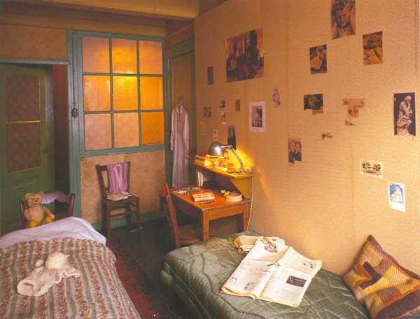 La habitación de la casa de atrás en Ámsterdam
