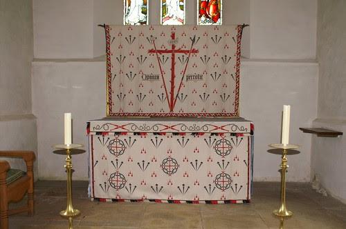 North Cerney, Gloucestershire - high altar lenten array
