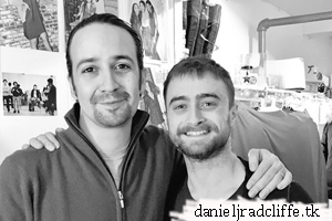 Daniel visits Hamilton on Broadway