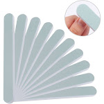 2 in 1 Nail Buffer and Shine Kit, 10-Pack Set 600/3000 Grit Double Sided Fingernail Smoother Buffer Polishing Block for Natural Nails, Green/ White