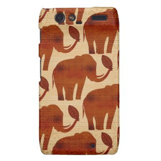 Elephant Tribal Art Design Motorola Razr