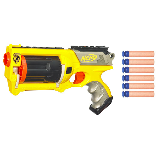 Nerf Nerf-N-Strike Maverick REV-6 - Toys & Games - Outdoor Play - Blasters & Foam Toys