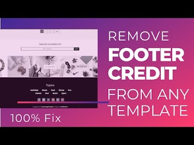 Remove Footer Credit from Blogger Template without redirecting- 2020- Remove Sora Template footer credit