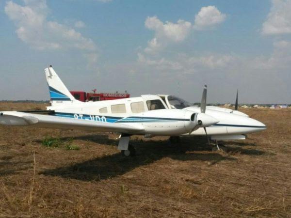Avião pousou em fazenda, a três quilômetros da cabeceira da pista do aeroporto de Sinop