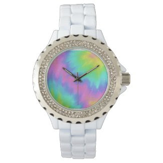 tie-dye bling watch