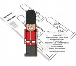 Royal Guardsman Timber People Woodworking Pattern - fee plans from WoodworkersWorkshop® Online Store - Royal Guardsman,Briitsh Guards,timber people,soldiers,military,yard art,painting wood crafts,scrollsawing patterns,drawings,plywood,plywoodworking plans,woodworkers projects,workshop blueprints
