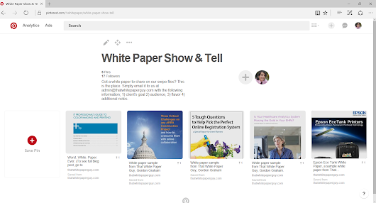 Why white paper writers and marketers should use Pinterest