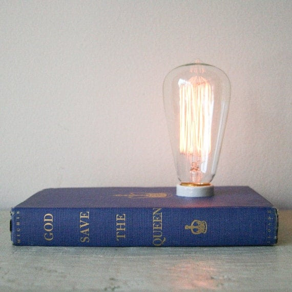 Hardback Book Lamp - God Save the Queen