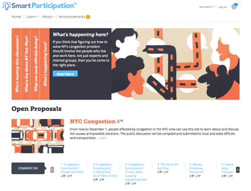 SmartParticipation Launches NYC Congestion Discussion