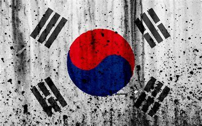wallpapers south korea flag  grunge flag