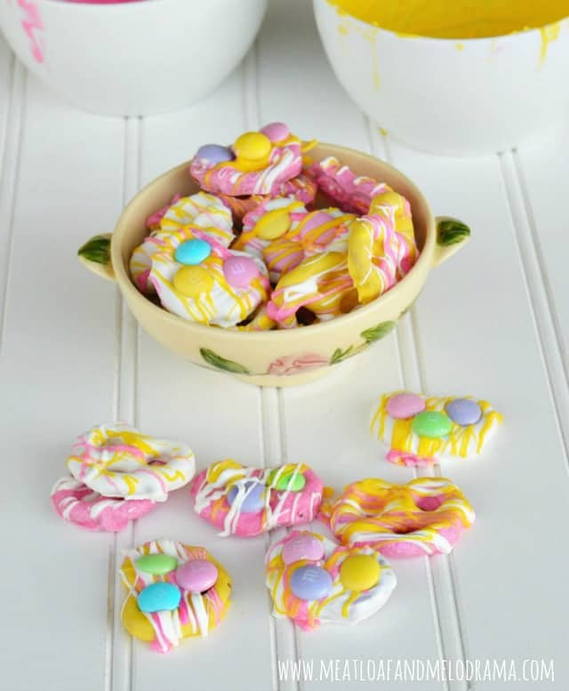 Easy Candy Coated Pretzels for Spring