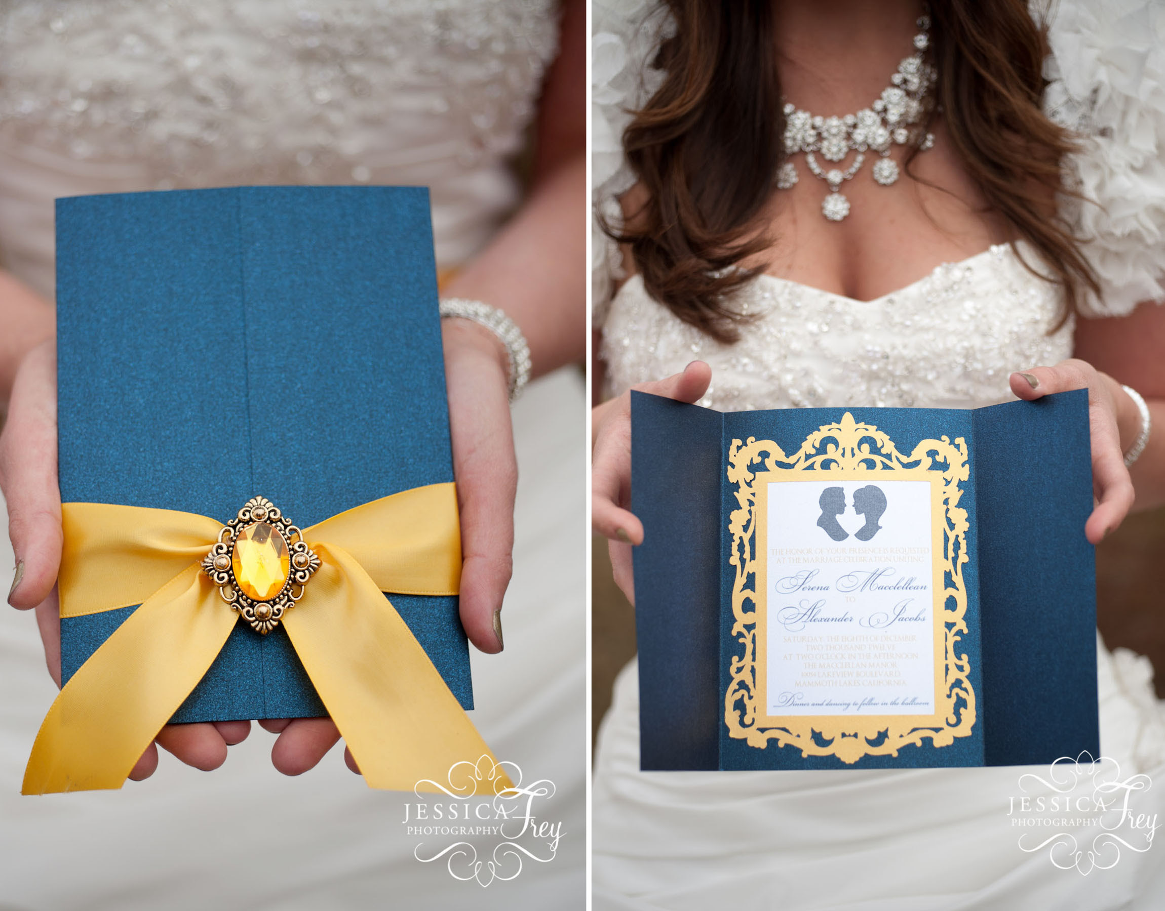 Navy Yellow Wedding Inspired By Beauty The Beast Austin
