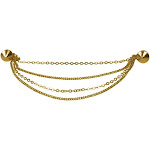 Evelots 4 Chain Sweater Collar Clip-Pins-Gold Tone-Cardigan-Blouse-Dress