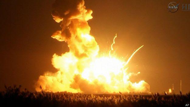 Antares cohete de la NASA