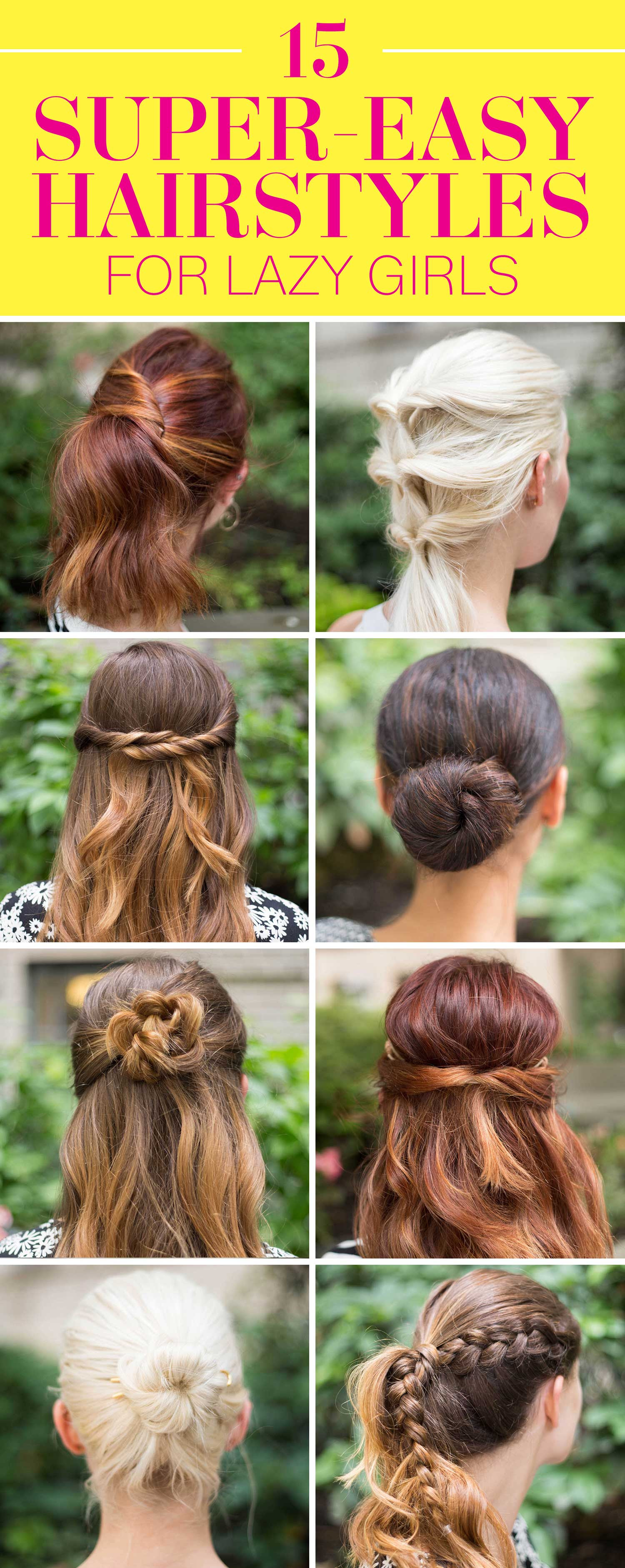 15 Super Easy Hairstyles for Girls in 2016 - Three Step ...