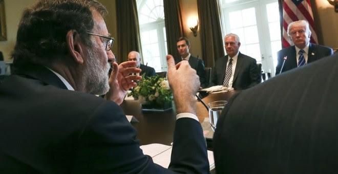 Rajoy y Trump, en la Casa Blanca el martes. EFE/JuanJo Martín