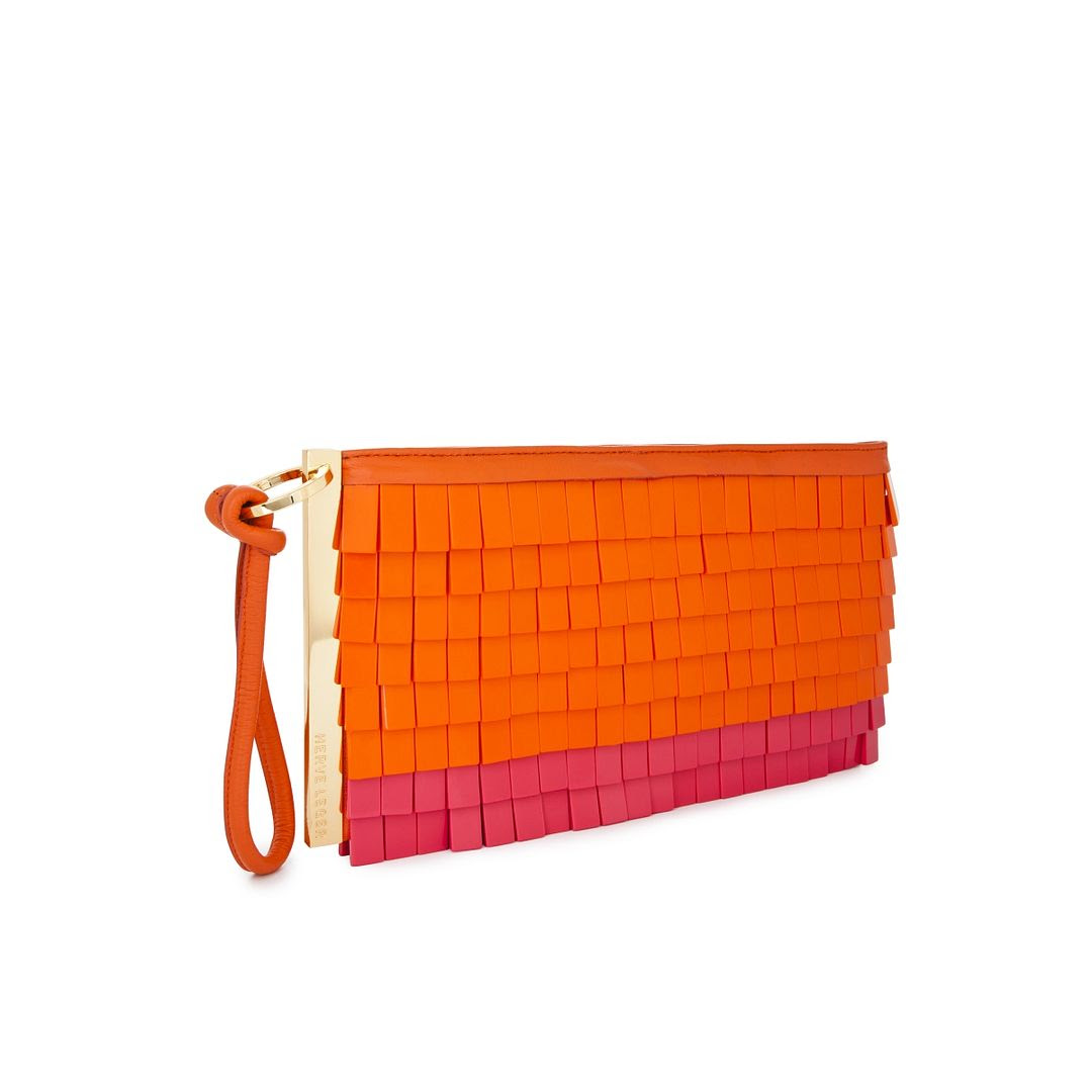 Herve Leger Resin Fringe Clutch