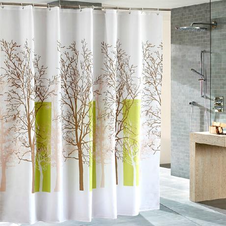 Waterproof Shower Curtain Multiple Trees Design Boardwalkbuy