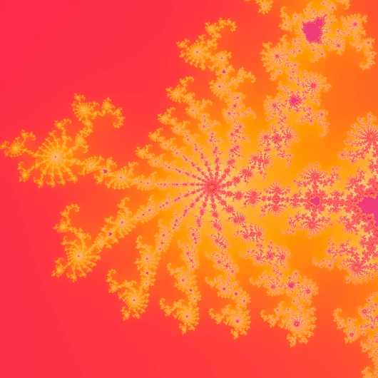 Mandelbrot Set, Code, and Ubiquity — These three colors were my primary palette when I...