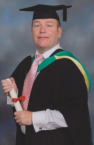 Tributes have been paid to social worker John Stollery (pictured graduating in 2007)