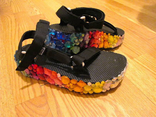 I Rainbow B'Dazzled the Shit Out of Some Teva Sandals.