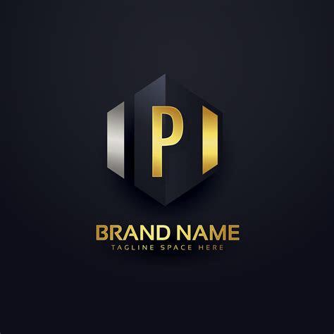premium letter p logo design template