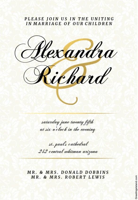 Editable Wedding Invitation Cards With Photos - Wedding Invitation ...