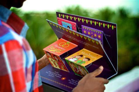 Creative Pop Up South Indian Wedding Invite Design on Behance