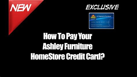 pay  ashley furniture homestore credit card