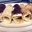 Crepes with Blackberry Puree
