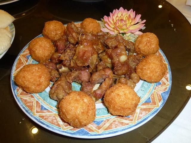 Honey Garlic Ribs with Shrimp Mousse Balls 2