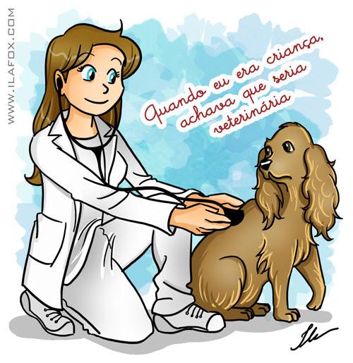 Dia do veterinário, quando eu era criança achava que seria veterinária, ilustração by ila fox