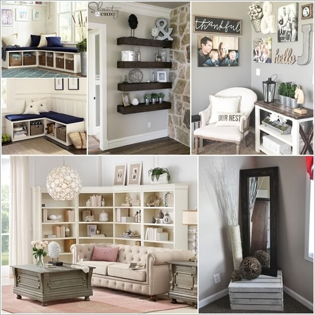 Wooden Cabinets Vintage How To Decorate A Corner In A Living Room