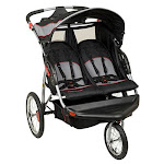 Baby Trend Expedition Swivel Travel Jogging Double Baby Stroller, Millennium by VM Express