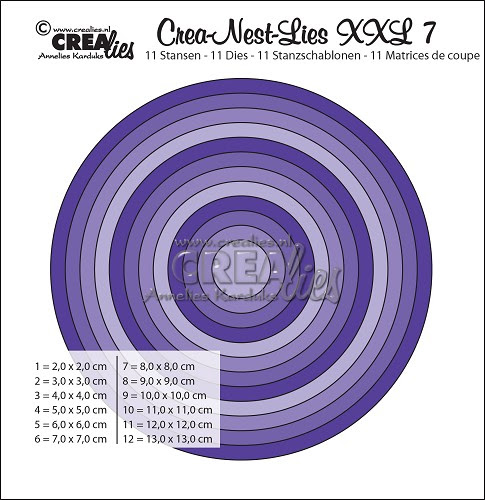 Crea-Nest-Lies set stansen no. 7 XXL / Crea-Nest-Lies dies no. 7 XXL
