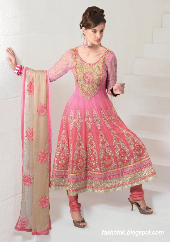 Fashion & Fok: Anarkali Embroidered Bridal Wear Frocks-Anarkali ...