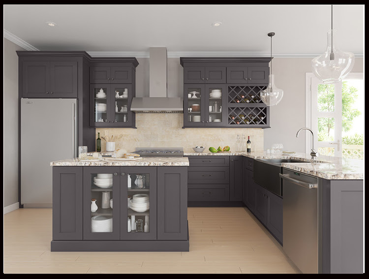 Ready Made Modular Kitchen Pantry Cabinet With Solid Wood ...