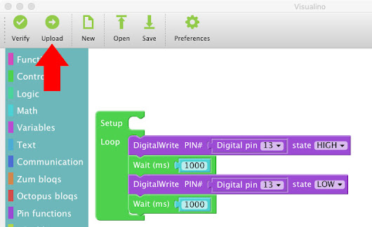 Visualino – Visual programming environment for Arduino – lezione 1