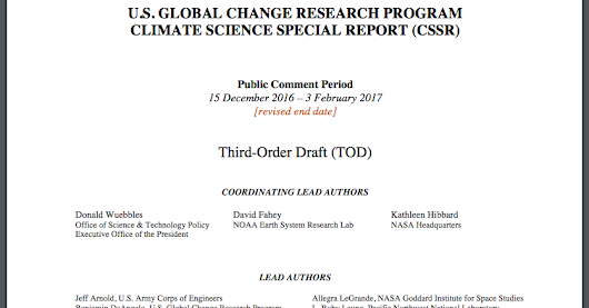 Read the Draft of the Climate Change Report