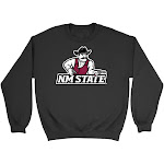 Official NCAA New Mexico State Aggies - RYLNMS06, G.A.18000, BLK, S Size Small Black