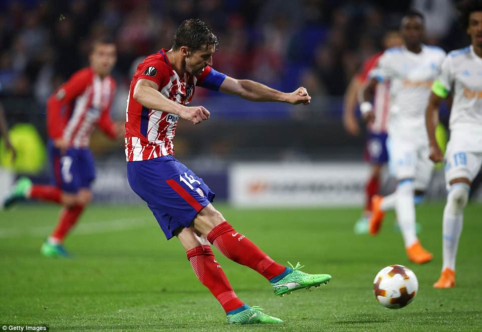 Atletico  captain Gabi rounds off an emphatic victory with a fierce strike from the edge of the box to make it 3-0