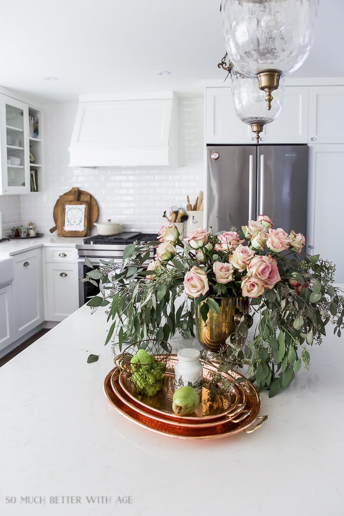 fall-white-kitchen-natural-wood-french-copper-eucalyptus-roses-110