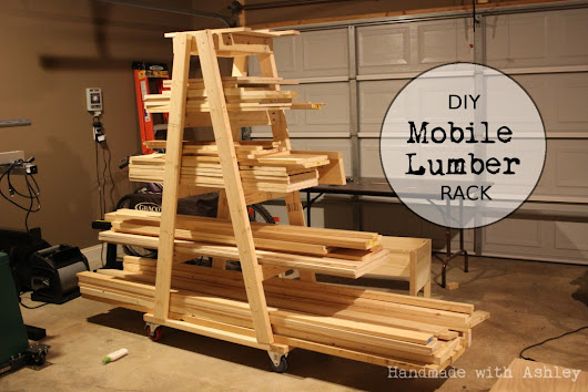 DIY Mobile Lumber Rack (Plans by Rogue Engineer) - Handmade with Ashley