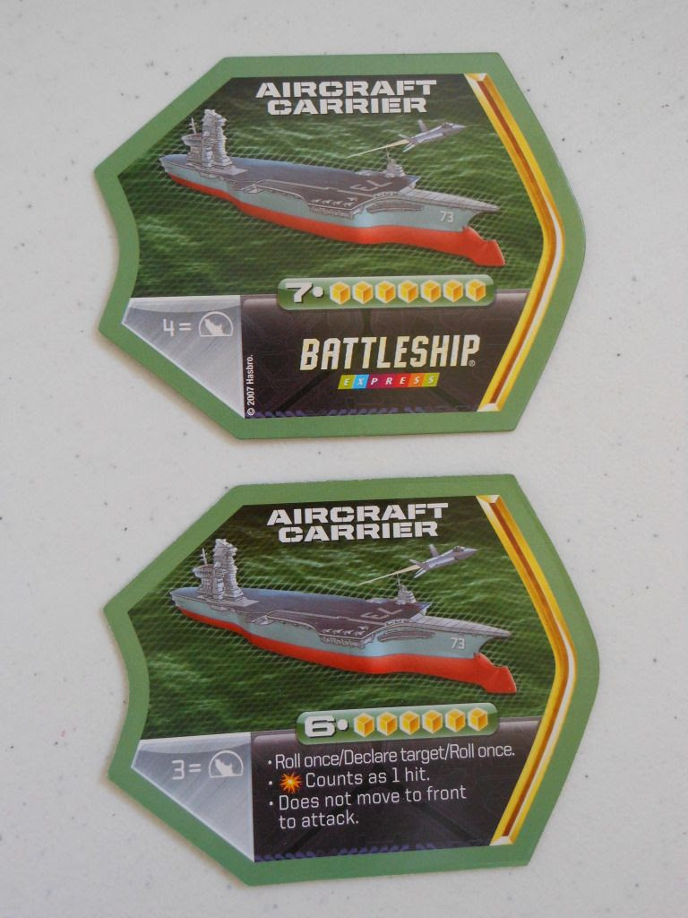 Battleship Express ship card
