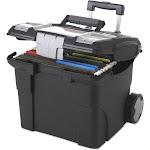 Storex - Premium File Cart, 15W x 16 3/8d x 14 1/4H - Black