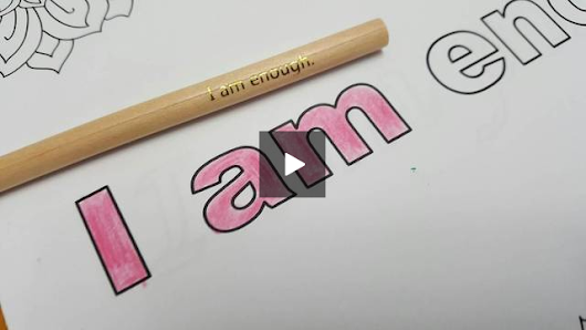 "Pink becomes ""I am enough."""
