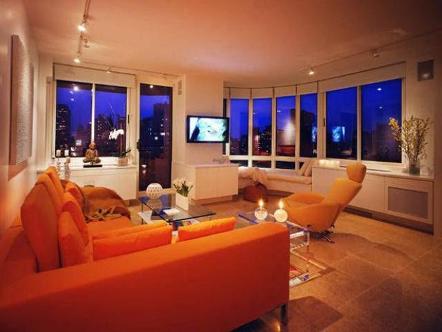 House Decorating Ideas   Brown & Orange Living Room Color Schemes ...