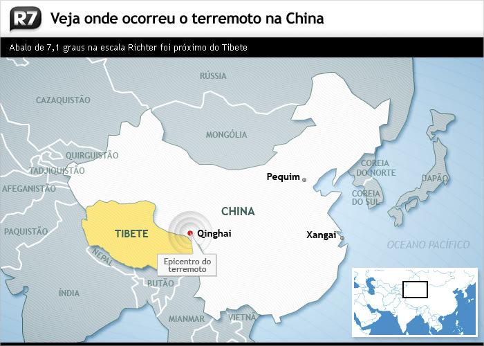mapa, terremoto, china, morte
